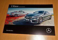 2134 Mercedes C-Klasse Coupe Cabrio C220d 250d C300 400 AMG C63 S Prospekt 2016