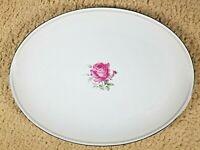 "Imperial Rose Fine China Serving Platter Japan 6702 Max Schonfeld 14"" x 10.5"""