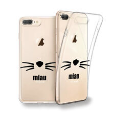 Funda gel dibujo Bigote Gato Miau para Iphone 6 7 8 plus X Xs Xs MAX XR