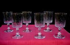 BACCARAT RICHELIEU CHAMPIGNY 6 WINE GLASSES VERRES A EAU VIN CRISTAL TAILLÉ 5777