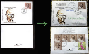 Moldova 2019 Mahatma Gandhi Private FDC  Traveling to your address
