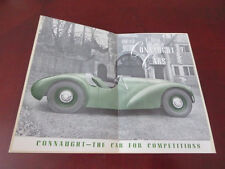 1950 Connaught Competition Car Sales Brochure - Mint with original envelope