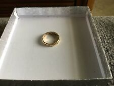 14k Yellow Gold Weave Design Band Ring Size 6.25