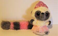 "Aurora Yoohoo And Friends White and Gray Lemur Wearing Pink Tutu and Crown 5"""