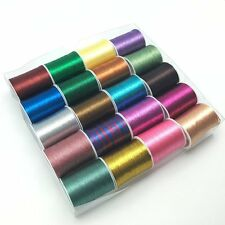 20 spools metallic thread embroidery thread sewing thread Set