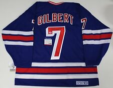 ROD GILBERT SIGNED NEW YORK RANGERS CCM JERSEY PSA/DNA AUTHENTICATED COA