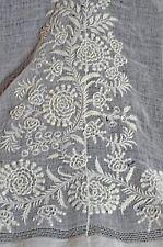Antique Whitework Embroidery Fragment Uu753