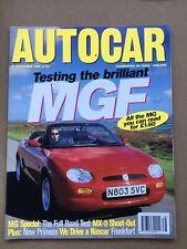Autocar Magazine - 20 September 1995 - MGF v MX-5  Alfa Spider GTV Audi A4 2.6