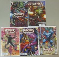 Monsters Unleashed #1 2 3 4 5 Run Lot Complete Comics Series Nm/Vf Marvel