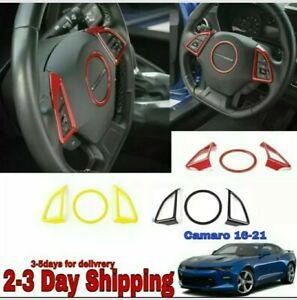 Camaro 2016 2017 2018 2019 2020 2021 3 piece Interior Steering Wheel Cover Trim