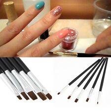 5PCS Nagel Pinsel Set Bürste Nail Art Design Acryl UV Gel Nagel Salon Pen