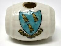 Meir Arms China, Crested China Whiskey Wine Beer Barrel Dundalk Crest, Ireland