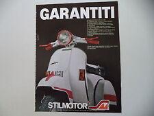advertising Pubblicità 1982 VESPA e STILMOTOR