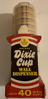 Vintage 1950s Unopened Dixie Cups Wall Dispenser NOS Original Box & 40 Cups