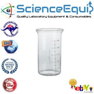 Beaker Glass Tall Form Without Spout 250ml Premium Borosilicate