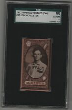 1912 C46 Imperial Tobacco Baseball Card #57 Lew McAllister Buffalo Bisons SGC 6