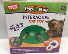 New listing Pop N'Play Interactive Automatic Motion Cat Toy Mouse Tease Electronic Pet Toys