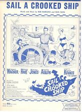 """SAIL A CROOKED SHIP"" SHEET MUSIC-WAGNER/AVALON/ERNIE KOVACS-1962-RARE-NEW-MINT!"