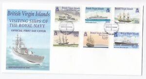 2001 First Day Cover British Virgin Islands VISITING SHIPS OF THE ROYAL NAVY