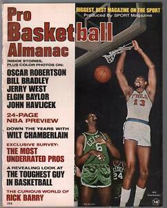 Pro Basketball Almanac 1968-Wilt Chamberlain-Bill Russell-Jerry West-FN/VF