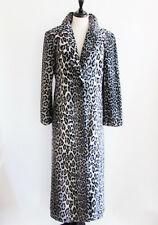 Women's Coats Faux Fur Coats Designer Coats Long Coats Leopard Animal Print Med