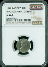 1970 CANADA 10 CENTS NGC MAC MS-68 PQ FINEST GRADE SPOTLESS .