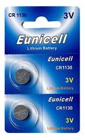 2 x CR1130 3V Lithium Knopfzelle 48 mAh ( 1 Blistercard a 2 Batterien ) Eunicell