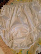 VINTAGE STYLE CUSTOM White 40 Denier Nylon Tricot  Long Domed Mushroom Gusset 8