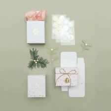 Advent Boxes 24 Mini White with Gold Stars Create Your Own Advent DIY