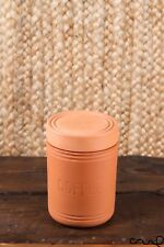 (grade B) Mason Cash Terracotta Coffee Storage Jar Canister Airtight Lid