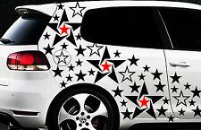 93-teiliges Sterne Star Auto Aufkleber Set Sticker Tuning WANDTATTOO Blumen x1