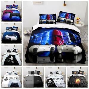PS5 Game Consoles Bedingding Set Quilt Duvet Cover Pillowcase Single Double Size