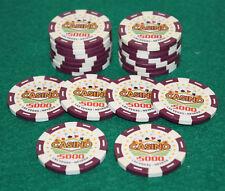 $5,000 Pro Vegas Casino Chips Super High Quality Poker Chip 11.5 Grams (QTY: 20)