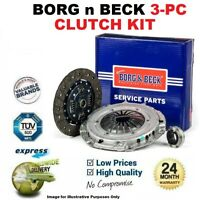 BORG n BECK 3PC CLUTCH KIT for TOYOTA RAV 4 2.2 D4D 2008-2013
