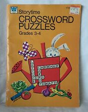 Vintage 1974 Whitman Storytime Crossword Puzzles Grades 3-4