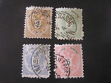 **AUSTRIA, SCOTT # 41-44(4),1883 NUMERICAL ISSUE USED
