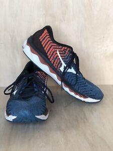 Mizuno Wave Sky Waveknit 3 Men's Blue Orange Size 10.5 Running Athletic Shoes