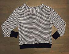 ATHLETA Striped Sweater Modal Spandex Woman's Medium Blue White
