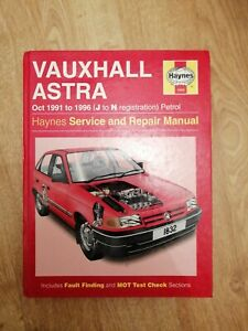 Vauxhall Astra Car Service Repair Manuals For Sale Ebay