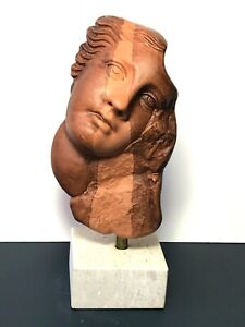 "7"" Ceramic Greek Ancient Bust Woman Decorative Bust Sculpture"
