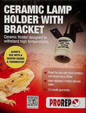 PROREP CERAMIC LAMP HOLDER WITH BRACKET for REPTILES & AMPHIBIANS 5055312310816