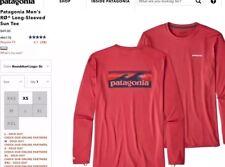 Patagonia Men's RØ® Sun Tee XL T-Shirt Rash Guard Surf SUP STATIC RED R0 NWT HTF