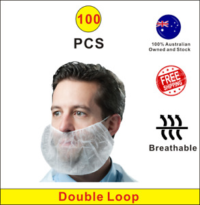 Disposable Beard Net Beard Cover Catering Kitchen Restaurant Food Processing 100