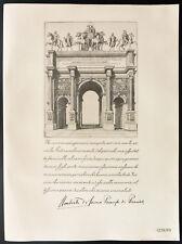 1926 - Litografia Citazione Principe Umberto di Savoia, Principe Di