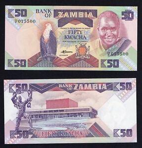 Zambia 50 kwacha 1986 (88) FDS-/UNC-  A-09
