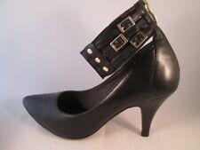 Tamaris Shoes - Black leather, ankle bands, multi buckle /Stilettos Size 3/4