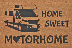 Motorhome Coir Mat 60cm x 40cm - Clear Lacquer Applied To Protect Fibres