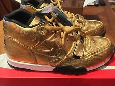 SB50 Nike Air Trainer 1 QS Super Bowl  Gold Speed Destroyed Size 10.5