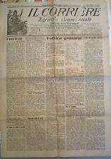 IL CORRIERE AGRICOLO COM. 18 LUGLIO 1920 - IL PREZZO DEL PANE IN ITALIA - 661