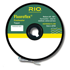 RIO Fluoroflex Freshwater Invisible Medium Stiff Fly Fishing Tippet - 5X